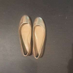 Snazzy gold flats 6.5M from Ann Taylor